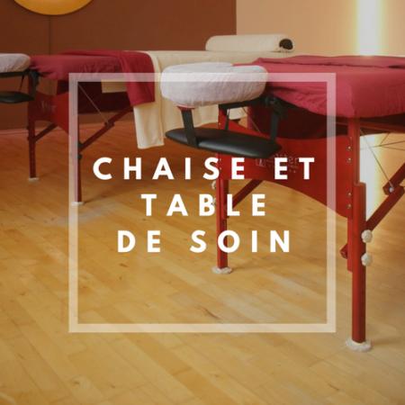 Chaises et tables de soin